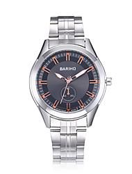 jewelora Homens Relógio Elegante Relógio de Moda Relógio de Pulso Chinês Quartzo Impermeável Resistente ao Choque Mostrador Grande Aço