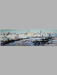 IARTS® Modern Abstract Oil Painting Venice Landscape Scenery Picture with Stretched Frame Handmade Oil Painting For Home Decoration Ready To Hang