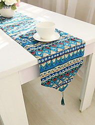 Mediterranean-style Double-sided Table Flags Striped Table cloths  Cotton Blend Material 30*180cm