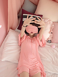 Real shot 2017 new color comfortable cotton goggles three-piece pajamas home service