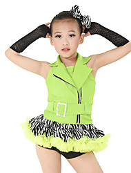 MiDee Children Dance Dancewear Kids' Jazz Dress Outfits Kids' Tap & Jazz Dance Wear