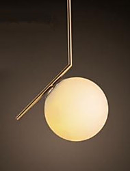 Simple Iron Glass Sphere Nordic Nordic Chandelier
