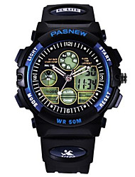 Kid's Sport Watch Fashion Watch Digital Water Resistant / Water Proof Rubber Band Black White