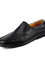 Homme Chaussures Cuir Printemps Automne Confort Mocassins et Chaussons+D6148 Elastique Pour Décontracté Noir Jaune Brun Foncé