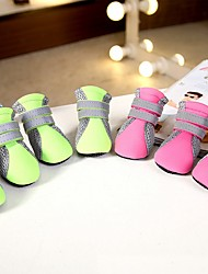 Dog Shoes & Boots Casual/Daily Cosplay Keep Warm Sports Solid Blushing Pink Green