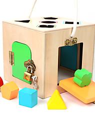 Blocos de Construir Jogos de Madeira para presente Blocos de Construir Quadrada 1-3 anos 3-6 anos de idade Brinquedos
