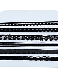 1Set Women's Choker Necklaces Chain Necklaces Layered Necklaces Plastic Canvas Cloth Demin Flower Style Ribbons Hip-Hop Jewelry ForGoing out