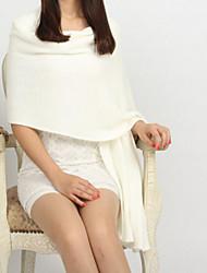 Mujer Invierno Otoño Imitación Cashmere Rectángulo,Sólido