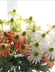 5 Stück 5 Ast Seide Gänseblümchen Künstliche Blumen