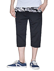 Men's Mid Rise Micro-elastic Straight Pants,Simple Relaxed Pattern