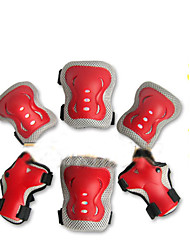 Children's High-Grade Color Protective Gear - Red Children's Protective Gear Sets Of Skateboards Six Sets Of Gears