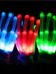 1 Pair Of Light Gloves/Wide Striped LED Colorful Gloves/Festive Dance Support Props Gloves