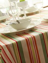 Korean Color Stripes Cotton And Linen Table Cloth 60*60cm