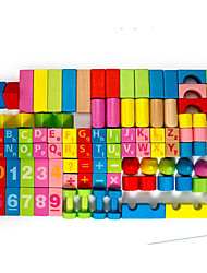 Building Blocks For Gift  Building Blocks Cylindrical Wooden 1-3 years old 3-6 years old Toys 100Pcs