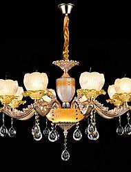 Люстра, традиционный / классический сплав цинка для кристалла мини-стиля металлическая гостиная кабинет кабинет / офис 8 лампочек