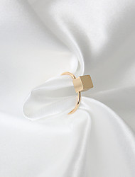 Ring Euramerican Fashion Alloy Square Gold Jewelry For Daily 1 piece