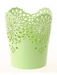 Thicken Hollow Lace Storage Tube Mini Trash Can