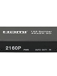 4K HDMI 1x2 2160P Splitter Full HD 1080P Amplifier HDMI Switch Switcher 1 in 2 Out Converter Adapter for HDTV DVD PS3 PS4