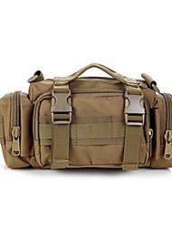 Men Waist Bag Nylon All Seasons Casual Outdoor Round Zipper Brown Green