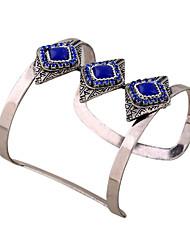 Mulheres Bracelete Pulseiras Algema Pulseiras de identificação Moda Vintage Estilo Boêmio Estilo Punk Resina Strass Forma Geométrica Jóias