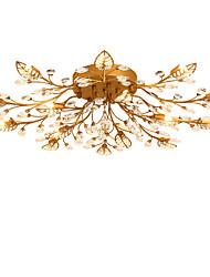 Lightmyself 15 luzes antiquã latão moderno cristal teto lâmpada dentro luzes para sala de estar quarto sala de jantar