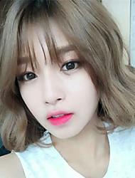 Korean Sweet Lolita Short Aoki Linen Gray Lolita Wig