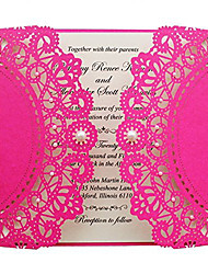 Hot Pink Wedding Invitation Girls Birthday Invitation - Set of 50