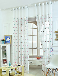 W100cm*L250cm One Pannel Curtains Dot Embroidery Sheer Shade Windows Curtain