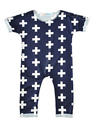 Una Pieza Bebé Estampado Algodón Mezclado Manga Corta Primavera/Otoño Verano
