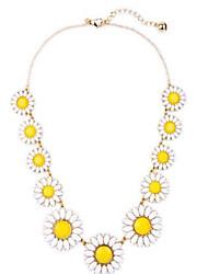 Femme Colliers chaînes Colliers Déclaration Forme de Fleur Alliage Original A Fleurs Bijoux PourSoirée Anniversaire Fête/Soirée