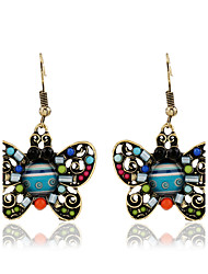 Women's Hoop Earrings Fashion Vintage Bohemian Personalized Metal Alloy Resin Jewelry For Gift Casual Stage Date Street