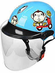 BLD 508 Motorcycle Helmet Child Helmet Child Electric Car Cute Cartoon Male And Female Children Half Helmet Transparent Lens