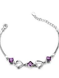 Femme Chaînes & Bracelets Mode Argent sterling Forme de Coeur Bijoux Pour
