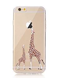 Für iPhone X iPhone 8 Hüllen Cover Transparent Muster Rückseitenabdeckung Hülle Spaß mit dem Apple Logo Tier Weich TPU für Apple iPhone X
