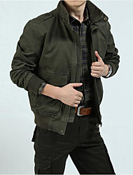 Men's Casual/Daily Simple Spring Denim Jacket,Solid Peaked Lapel Sleeveless Short Others