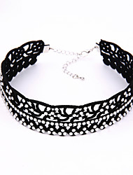 American And European Velvet Neckband Collarbone Chain Punk Girl Necklace4