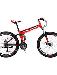 Горный велосипед Складные велосипеды Велоспорт 21 Скорость 26 дюймы/700CC Shimano Двойной дисковый тормоз Передняя вилка с амортизацией