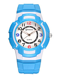 Kid's Sport Watch Digital Watch Digital Water Resistant / Water Proof Noctilucent Rubber Band Blue Green Purple