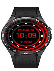 Homme Smart Watch Numérique Silikon Bande Noir Blanc Rouge