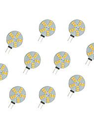 2,5 W Luminárias de LED  Duplo-Pin 15 SMD 5630 220 lm Branco Quente Branco DC 12 V 10 pçs