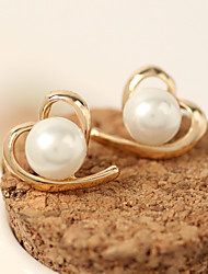Women's Stud Earrings Imitation Pearl Fashion Costume Jewelry Alloy Heart Jewelry For Casual