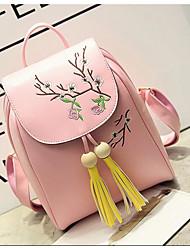 Donna Borsa da palestra e borsone PU (Poliuretano) Per tutte le stagioni Casual Rotondi Cerniera Bianco Nero Rosa