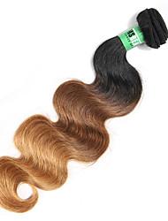 Âmbar Cabelo Peruviano Onda de Corpo 18 Meses 1 Peça tece cabelo