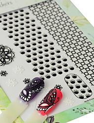 1 Autocollant d'art de clou Motif Filles & Jeunes Filles 3D Produits DIY Autocollant Maquillage cosmétique Nail Art Design
