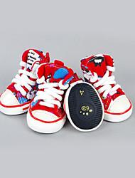 Cachorro Sapatos e Botas Casual Esportes Blocos de cor Vermelho Verde Azul