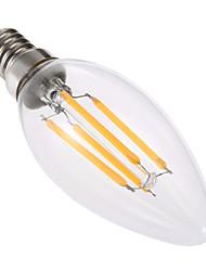 4W Luci LED a candela C35 4 COB 300-400 lm Bianco caldo Oscurabile Decorativo AC 220-240 V 1 pezzo