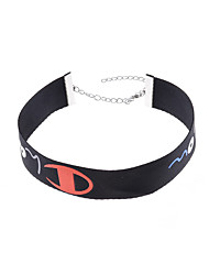 Women's Choker Necklaces Irregular Copper Chrome Ribbons Euramerican Fashion Personalized Jewelry ForDailywear Casual Outdoor clothing