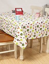Japanese Style Striped Printing Cotton And Linen Table Cloth 70*70cm
