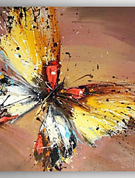 Hand-Painted  Impression Butterfly  Oil Painting With Stretcher For Home Decoration Ready to Hang