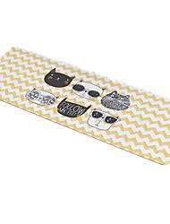 Tapete de rato de gato gato bonito estilo tecido à prova d'água 30cm * 78cm jogo de mouse pad